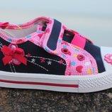 Детская обувь. Кеды, мокасины для девочек Тм Clibee р.20 -22