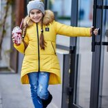 Детская курточка- ассиметрия. Размеры 128,134,140,146,152.