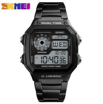 Часы мужские Skmei Ripple 1335 Black, Гарантия / Чоловічий годинник Скмей 1335