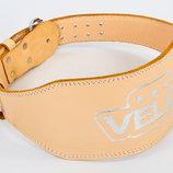 Пояс для пауэрлифтинга кожаный Velo 6624 размер S-XXL