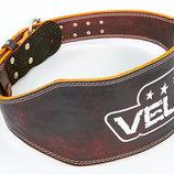 Пояс для пауэрлифтинга кожаный Velo 6627 размер S-XXL