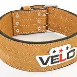 Пояс для пауэрлифтинга кожаный Velo 6645 размер M-L