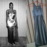 Hennes стальное платье в пол в бельевом стиле В подарок