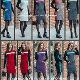 42-48 Вязаное платье теплое. Жіноча сукня тепла. Платье трикотажное Милана