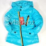 Детская куртка для девочки демисезонная 4-6 лет голубая 4012