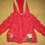 Куртка с Пеппой George 1-1,5года