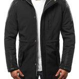 Черная мужская зимняя куртка парка