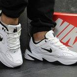 Топ Качество. Бесплатная доставка. Кожаные Кроссовки Nike М2K Tekno черно-белые KS 586