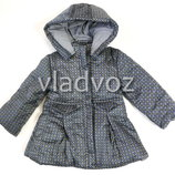 Демисезонная детская куртка для девочки серая цвета 2-6 лет 4017