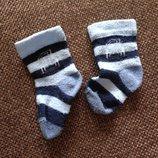 0-2 мес носочки 1, в полоску, нежные и стильные