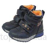 Деми ботинки Сказка 5601 синие размеры 21-25