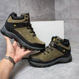 Мужские зимние ботинки кроссовки Columbia LifTop II Termo в зеленом хаки цвете