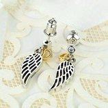 Серьги Pandora крылья ангела,Premium, путь любви, пандора ,сережки