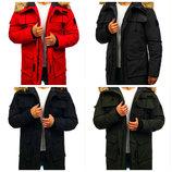 Зимняя теплая мужская удлиненная куртка