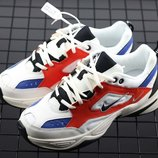 Кроссовки Nike Air Monarch the M2K Tekno White/Blue/Red