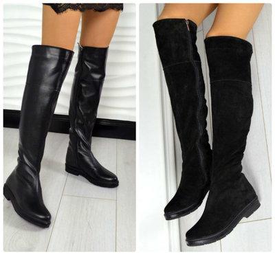 db53a6b21 Замшевые и кожаные ботфорты: 1600 грн - женские зимние сапоги в ...
