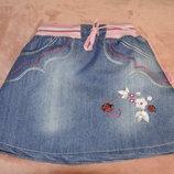 Джинсовая юбочка на 3 года
