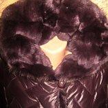 Акция -10% От цены до Нового года Новая куртка пальто пуховик большого р-р натуральный мех