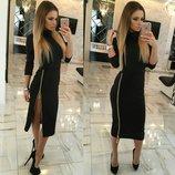 Платье 3 цвета 42,44 размеры