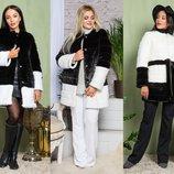 Женская шуба-пальто из искусственного меха 2-014, р.42-54