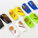 Щитки футбольные Manchester 6852 размер S-L пластик, EVA