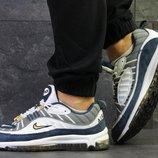 Nike 97 кроссовки мужские белые с голубым 6313