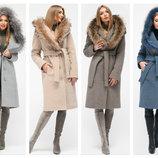 Акция. Женское зимнее пальто с натуральным мехом X-Woyz 8815 42-48 размер