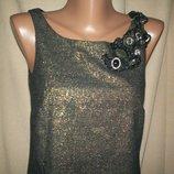 Красивое золотистое платье River Island р-р8