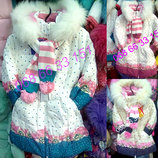 Распродажа Зимние пальто Kiko 3348 на девочку 104-134 Тинсулейт