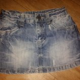 Джинсовая юбка девочке р.128