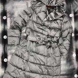 Пальто под пояс 818 Размер s, m, l, xl Объемное стеганое пальто идеально подходит для зимних мороз