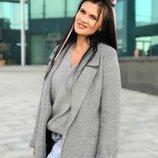 Пальто Комби Демисезонной Пальто весна-осень на подкладке 2 кармана, в комплекте пояс Ткань Букле