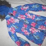 Зимняя,яркая куртка на 5-7 лет,рост 122 см,Joules
