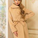 Фантастичекое кашемировое пальто с капюшоном, А4, р. 44-58 цвета
