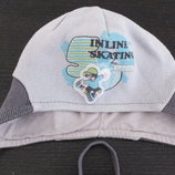 демисезонная шапка Тм Barbaras Польша размер 62- 68 - 74 на 1 - 3 месяца