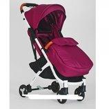 Прогулочная коляска Baby YOGA M 3910-9 аналог Yoya Plus 2 малиновая