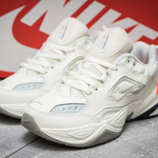 Кроссовки кожаные женские Nike M2K Tekno, бежевые