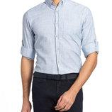 Мужская рубашка голубая LC Waikiki / Лс Вайкики в тонкую полоску