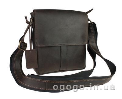 Кожа. Ручная работа. Кожаная коричневая, черная мужская сумка через плечо. Барсетка.