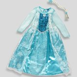 0040 Новое платье Эльза Холодное Сердце 7-10 лет с косичкой