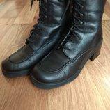Ботинки кожаные,на шнуровке р 37