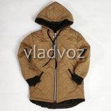Детская демисезонная куртка для девочки коричневый 2-4 лет 4022