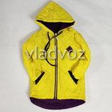 Детская демисезонная куртка для девочки желтый 2-4 лет 4024