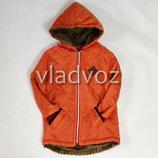 Детская демисезонная куртка для девочки оранжевый 2-4 года 4027
