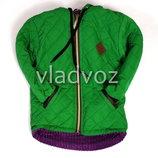 Детская демисезонная куртка для девочки зелёный 2-4 года 4025