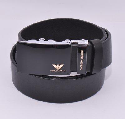 Кожаный ремень автомат мужской Giorgio Armani 8006-317-g черный, коричневый, темно-синий
