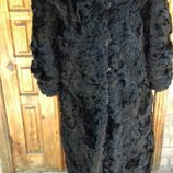Довга тепла шуба із козлика, розмір 52-54