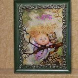 картина из янтаря, картина з буршштину Ангелы