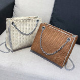Стильная вязаная сумочка на цепочке В Наличии