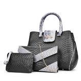 Роскошный набор женских сумок под кожу питона 3в1 В Наличии